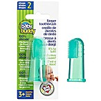 Baby Buddy Silicone Finger Toothbrush in Green