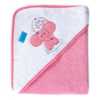 Luvable Friends® Elephant Woven Hooded Towel in Pink