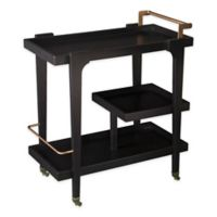 Holly & Martin Zhori Modern Bar Cart in Black