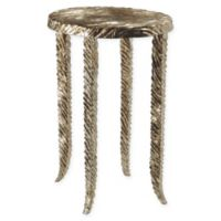 Studio A Home Waves Accent Table in Silver