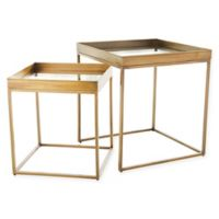 Studio A Home Perfect Nesting Tables in Antique Brass (Set of 2)