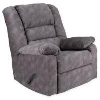 Flash Furniture Cody Microfiber Rocker Recliner in Grey
