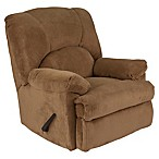 Flash Furniture Feel Good Microfiber Rocker Recliner in Camel