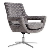 TOV Furniture Fifi Swivel Chair in Grey