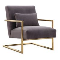 TOV Furniture Elle Velvet Chair in Grey
