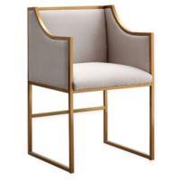 TOV Furniture Atara Velvet Chair in Cream/Gold