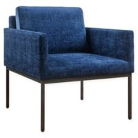 TOV Furniture Canton Velvet Chair in Navy