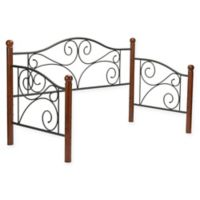 Fashion Bed Group Doral Metal Daybed Frame in Walnut/Matte Black