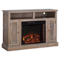 Southern Enterprises Antebellum Electric Fireplace TV Stand in Oak