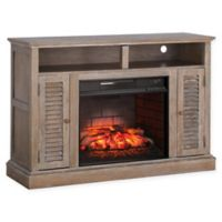 Southern Enterprises Antebellum Infrared Electric Fireplace TV Stand in Oak