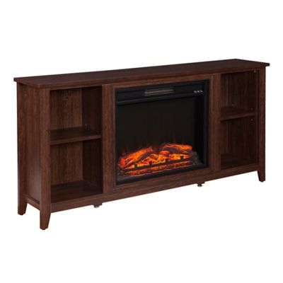 southern enterprises parkdale electric fireplace tv stand in espresso - Tv Stands With Built In Fireplaces