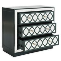 Safavieh Amelia 3-Drawer Mirrored Chest in Teal