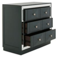 Safavieh Sloane 3-Drawer Mirrored Chest in Teal
