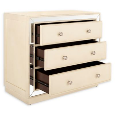 Safavieh Silas 3 Drawer Mirrored Chest In Beige