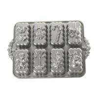 Nordic Ware® Platinum Nonstick Holiday Mini Loaves Pan in Silver