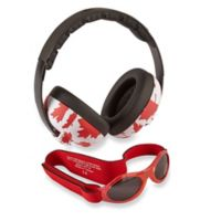 Baby Banz Size 0-2 Years earBanZ Hearing Protection with Sunglasses in Canada Maple Leaf
