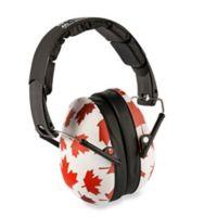 Banz Canada Maple Leaf Earmuffs in White
