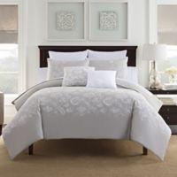 Bridge Street Anabelle Reversible King Comforter Set in Grey