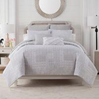 Bridge Street Clover Reversible King Comforter Set in Stone
