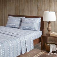 Woolrich® Winter Frost Cotton Flannel California King Sheet Set in Blue