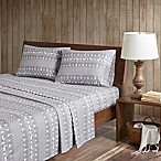 Woolrich® Winter Frost Cotton Flannel Queen Sheet Set in Grey