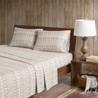 Woolrich® Winter Frost Cotton Flannel Queen Sheet Set in Tan