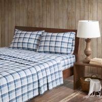 Woolrich Tasha Cotton Flannel King Sheet Set In Blue
