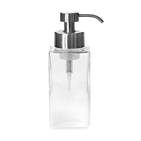 Foaming Soap Dispenser In Frost Glass Bed Bath Beyond