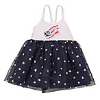 Baby Starters® Glitter Flag Size 6M Dress in Navy
