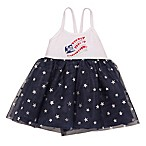 Baby Starters® Size 9M Flag Bodysuit Dress in Navy