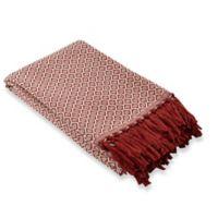 Alvarado Outdoor Throw Blanket in Cherry
