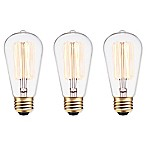 Globe Electric 3-Pack Vintage Edison 60-Watt E26 Bulb