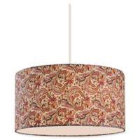 Filament Design Jeannette 3-Light 16-Inch Pendant in Burgundy