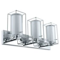 Eglo USA Iride 3-Light Wall-Mount Vanity Light in Chrome