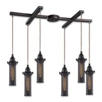 Elk Lighting Fulton 33-Inch 6-Light Pendant Light in Oil Rubbed Bronze