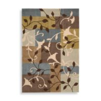 Nourison Contours Multicolor 3-Foot 6-Inch x 5-Foot 6-Inch Trumpet Flower Area Rug
