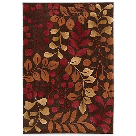 Nourison Contours Botanical Rug In Chocolate Bed Bath Beyond