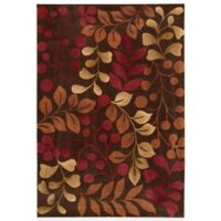 Nourison Contours Chocolate Botanical 5-Foot x 7-Foot 6-Inch Room Size Rug