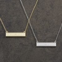 Coordinate Nameplate Necklace