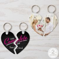 """""""You Complete Me"""" Break Apart Keychains (Set of 2)"""