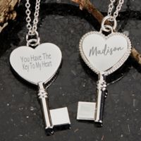 My Heart Engraved Pendant Necklace