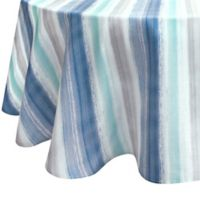 Colordrift Painted Stripe 70-Inch Round Tablecloth