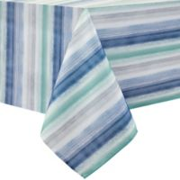 Colordrift Painted Stripe 70-Inch Square Tablecloth