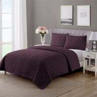 Wonder Home Monarch Queen Quilt Set in Purple
