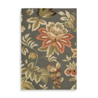 Nourison Fantasy Chocolate Floral 3-Foot 6-Inch x 5-Foot 6-Inch Room Size Rug