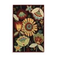 Nourison Fantasy Floral 5 x 7-Foot 6-Inch Room Size Rug in Black
