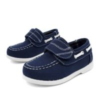 Stepping Stones Size 8 Casual Canvas Boat Shoe in Navy