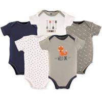 Hudson Baby® Size 3-6M 5-Pack Wild One Bodysuits
