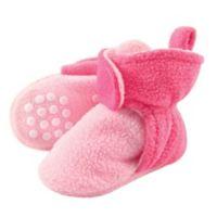 Luvable Friends® Size 6-12M Scooties Fleece Booties in Baby Pink