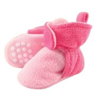 Luvable Friends® Size 12-18M Scooties Fleece Booties in Baby Pink